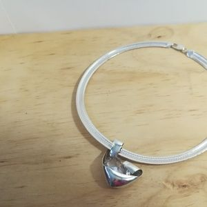 Jewelry - Sterling silver choker with huge Stone